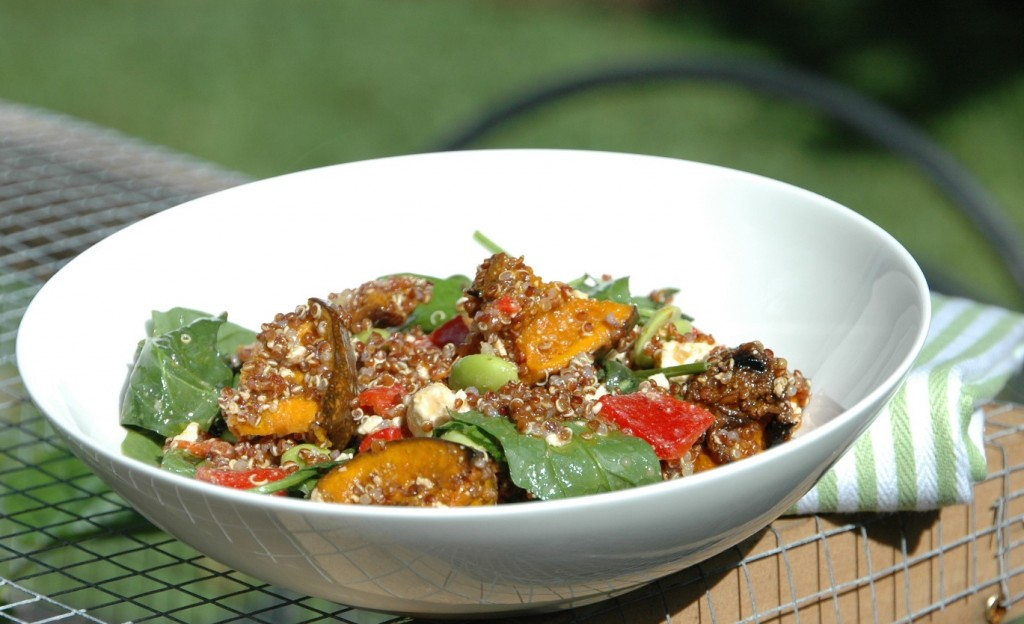 Quinoa Salad with Roasted Pumpkin Capsicum and Feta