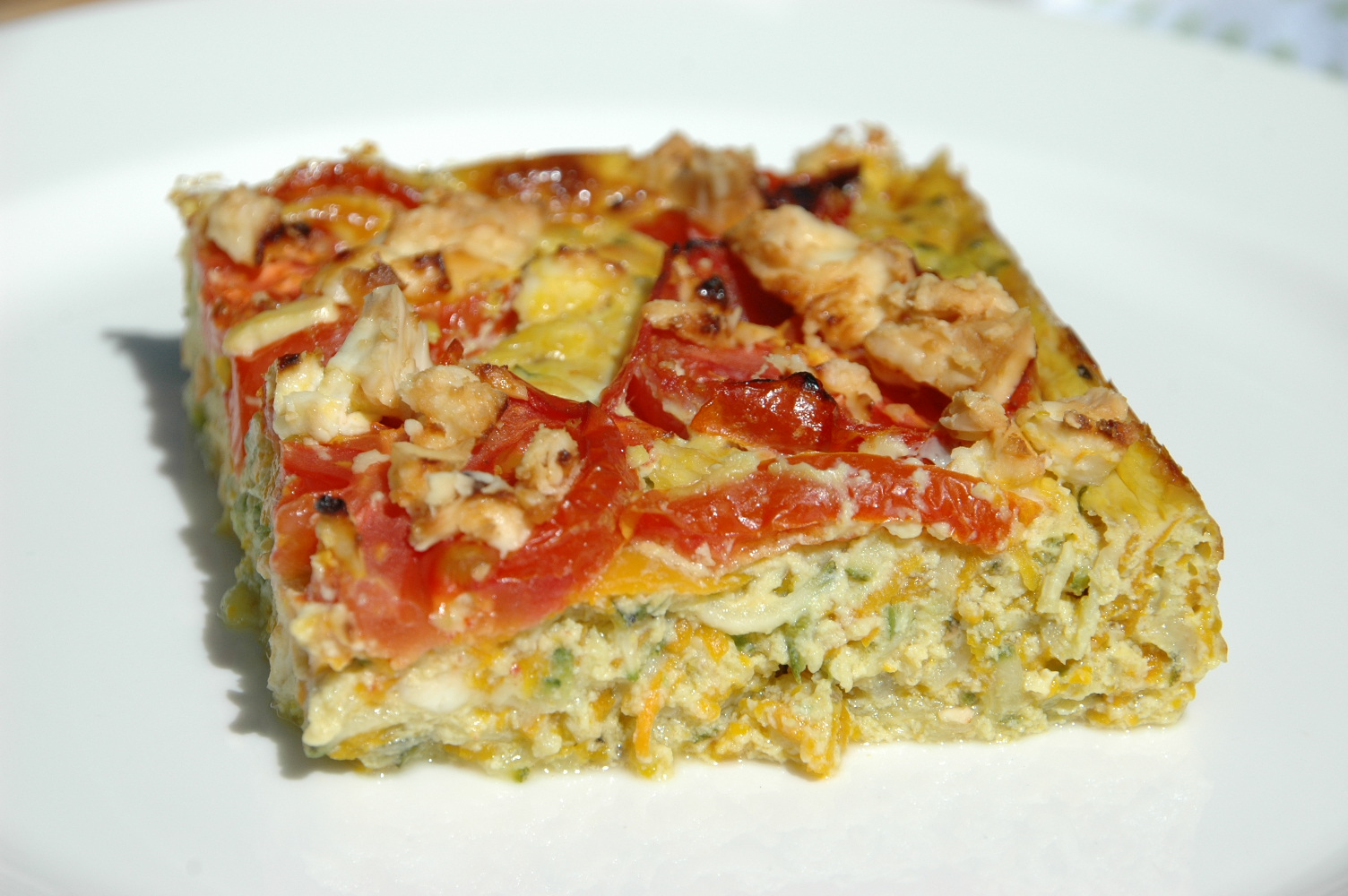 Zucchini Slice Healthy Home Cafe
