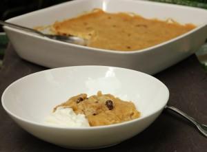 baked polenta pudding