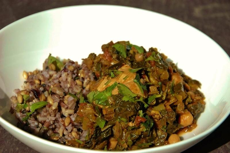 chicken chickpea and cavalo nero curry