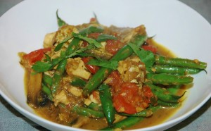 White Fish Tomato and Bean Curry