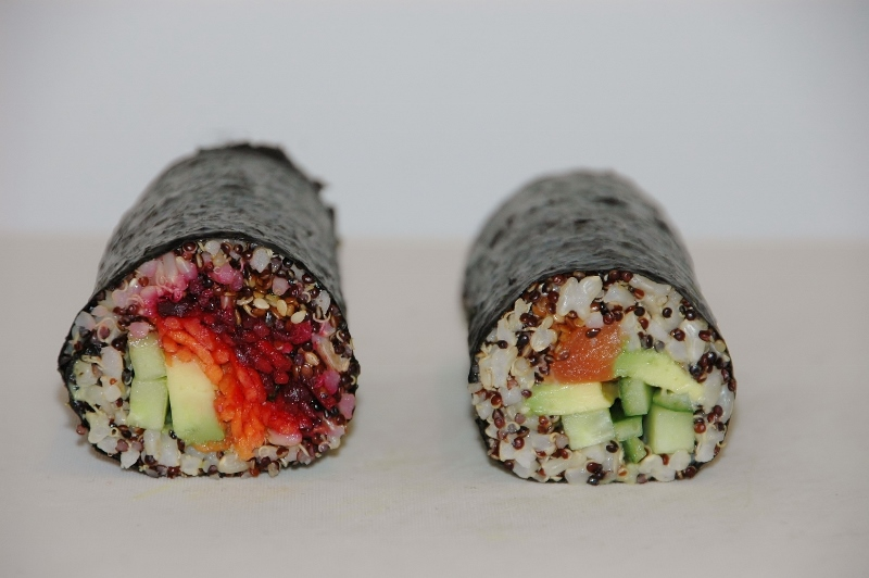 quinoa and brown rice sushi