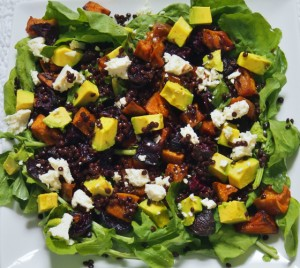 black beluga lentil salad