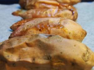 roasted whole sweet potato