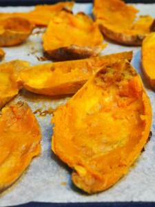 roasted sweet potato skins