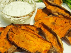 roasted sweet potato skins