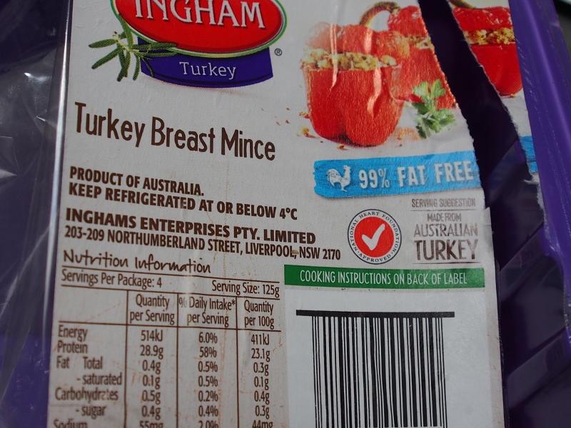 low fat turkey mince
