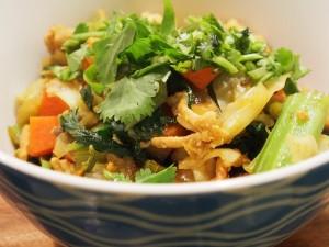 a very tasty turkey chow mein