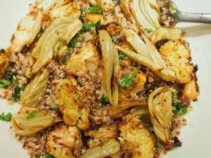 quinoa salad with fennel and cauliflower