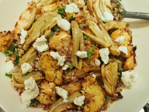 quinoa salad with fennel cauliflower and goats cheese