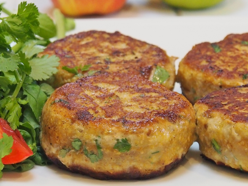 indian spiced turkey burgers