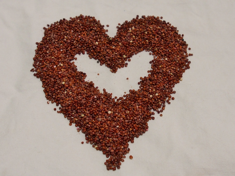 red quinoa is good for your heart