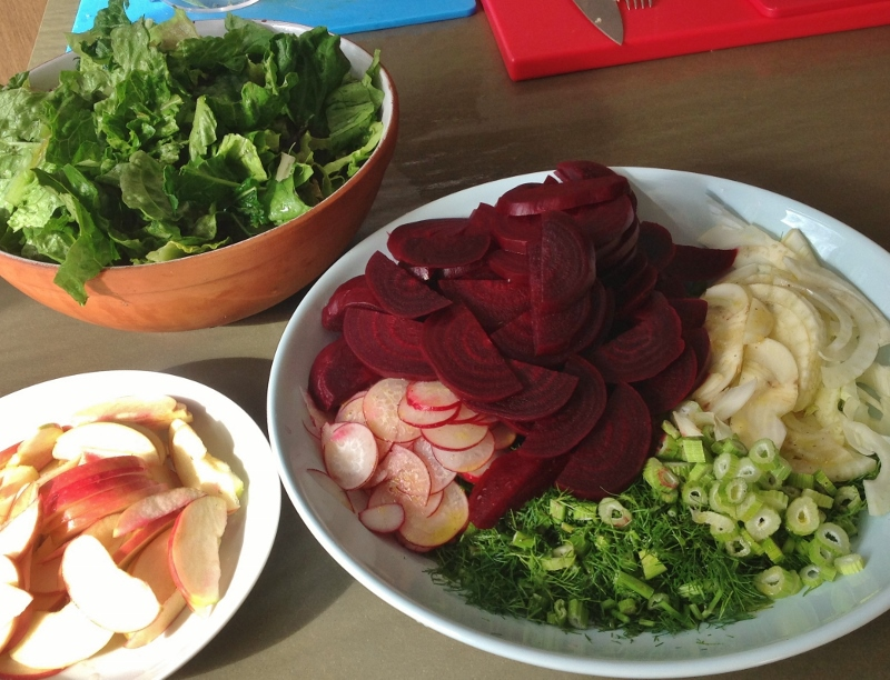 beetroot fennel and apple salad