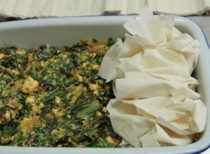 kale and feta filo pie