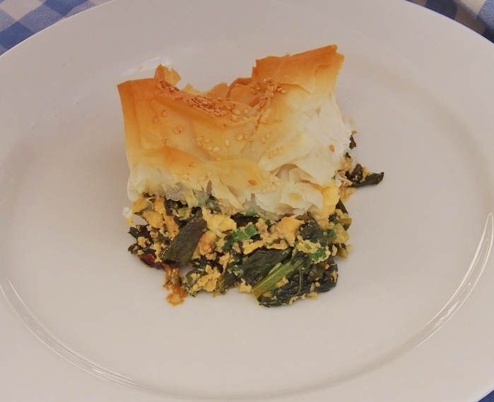 kale and feta pie