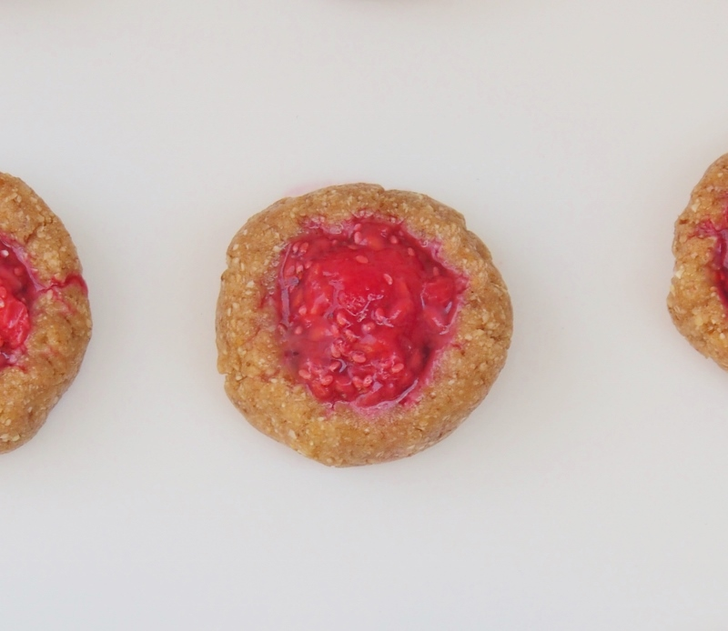 raspberry chia jam drop cookie