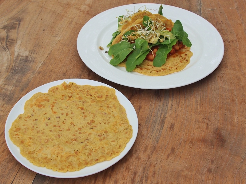 chickpea and linseed wraps