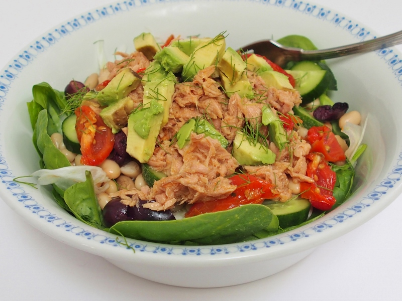 tuna and cannelini bean salad