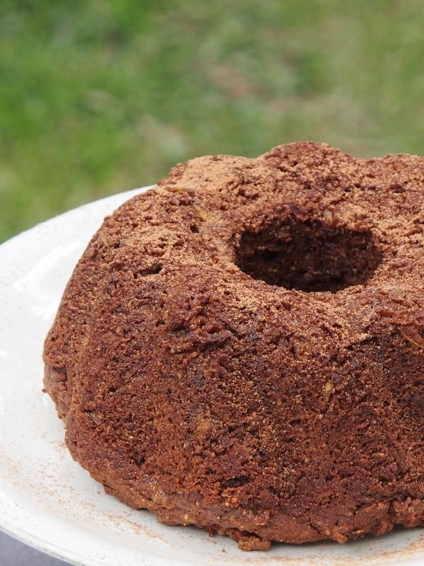 Apple Banana and Chocolate Cake
