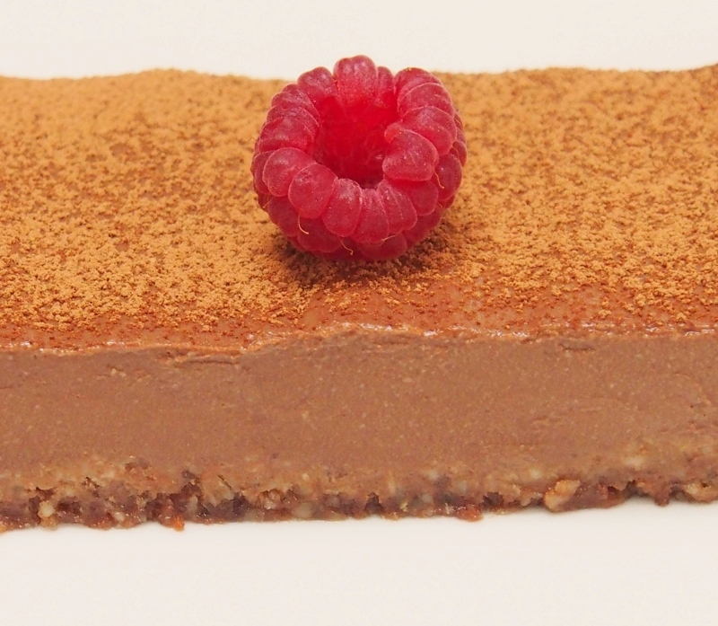 healthy chocolate mousse tart