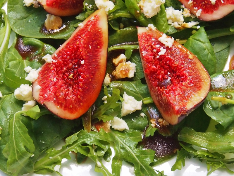 fig rocket and feta salad
