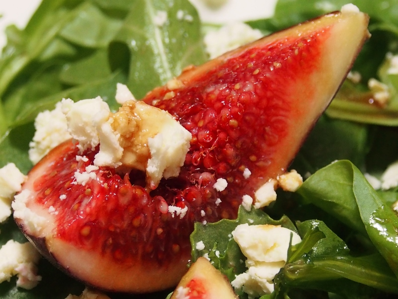 fig rocket and feta salad