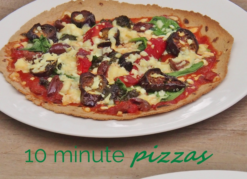 10 minute pizzas