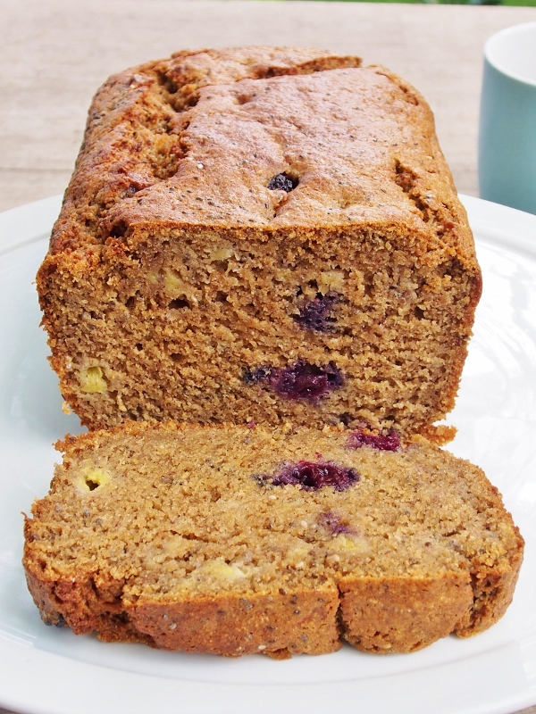 banana blueberry and chia loaf