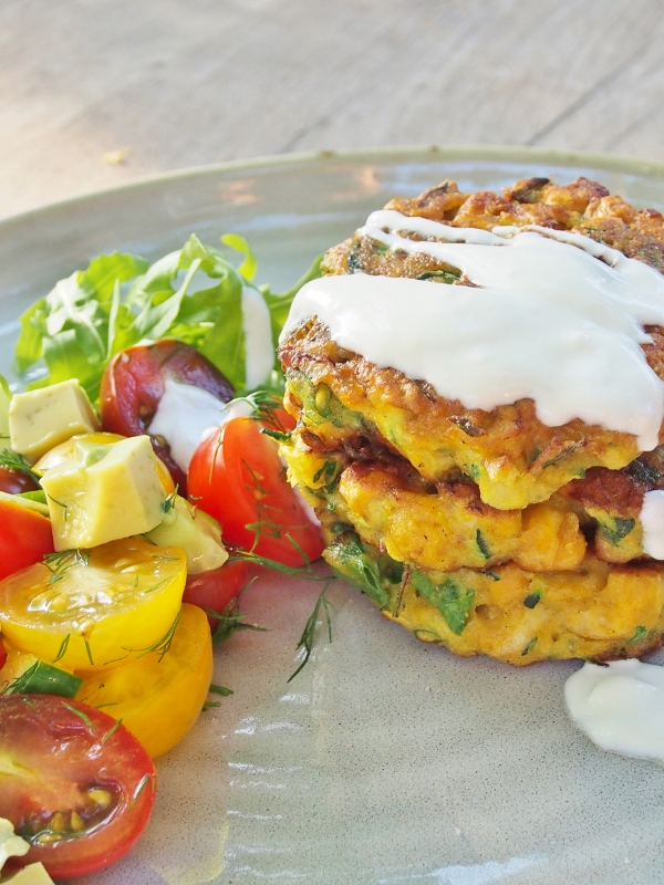 zucchini and chickpea fritters