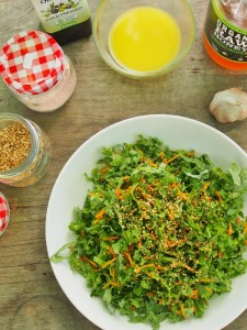 Kale, Carrot and Sesame Salad
