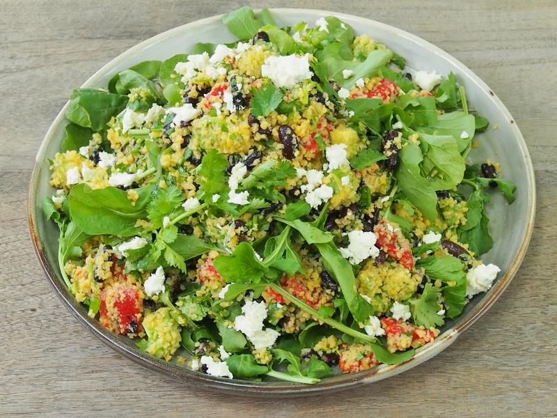 corn cous cous salad