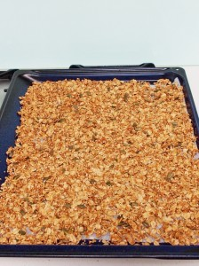 fresh granola ready to be made into tarts :)