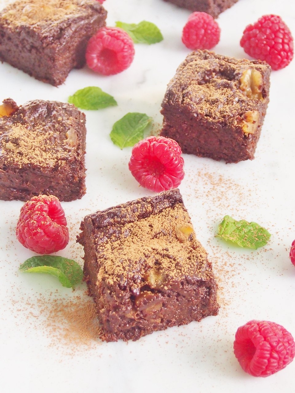 chocolate prune and walnut brownies