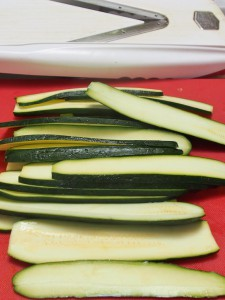 slice zucchini