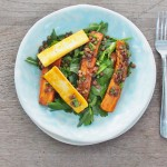 carrot, lentil and haloumi salad