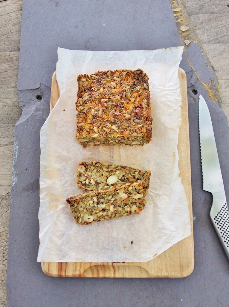 carrot and quinoa seed loaf