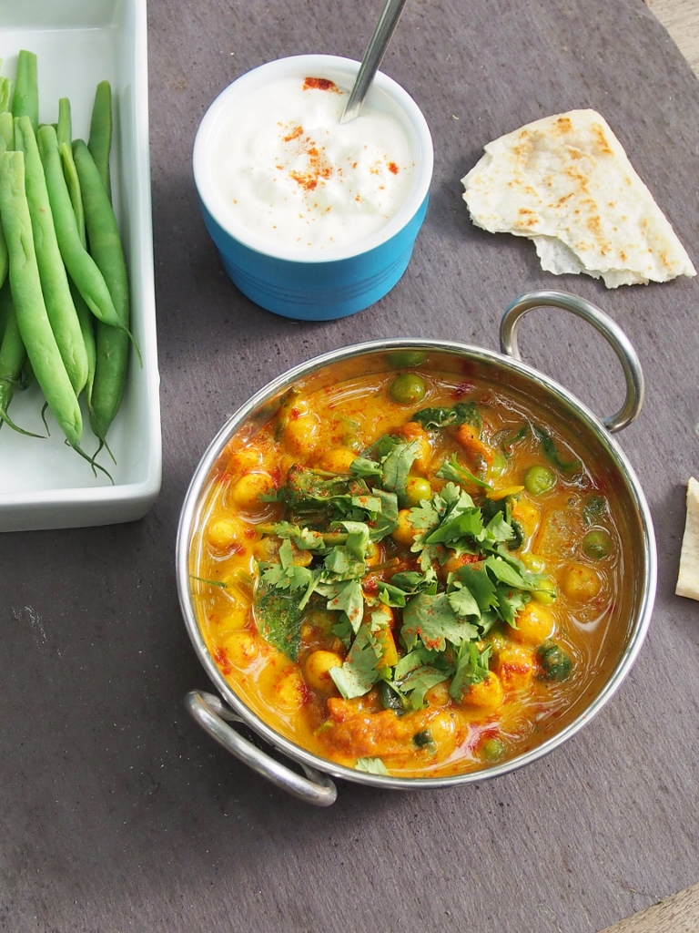 quick chickpea and coconut curry