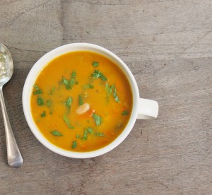 carrot leek and white bean soup