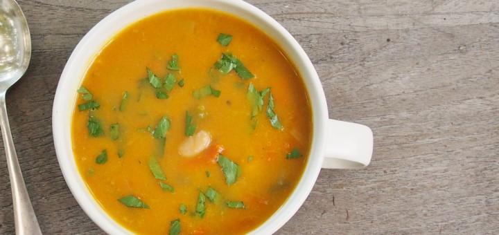 carrot leek and white bean soup