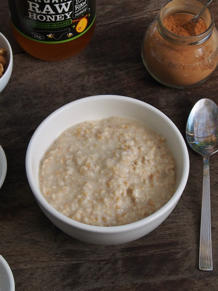 Good Old Fashioned Porridge With Lots Of Variations Healthy Home Cafe