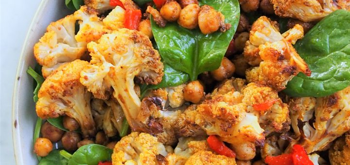 Moroccan Cauliflower and Chickpea Salad