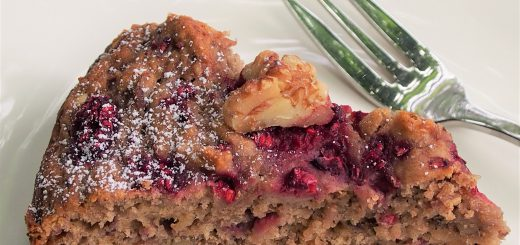 raspberry walnut cake