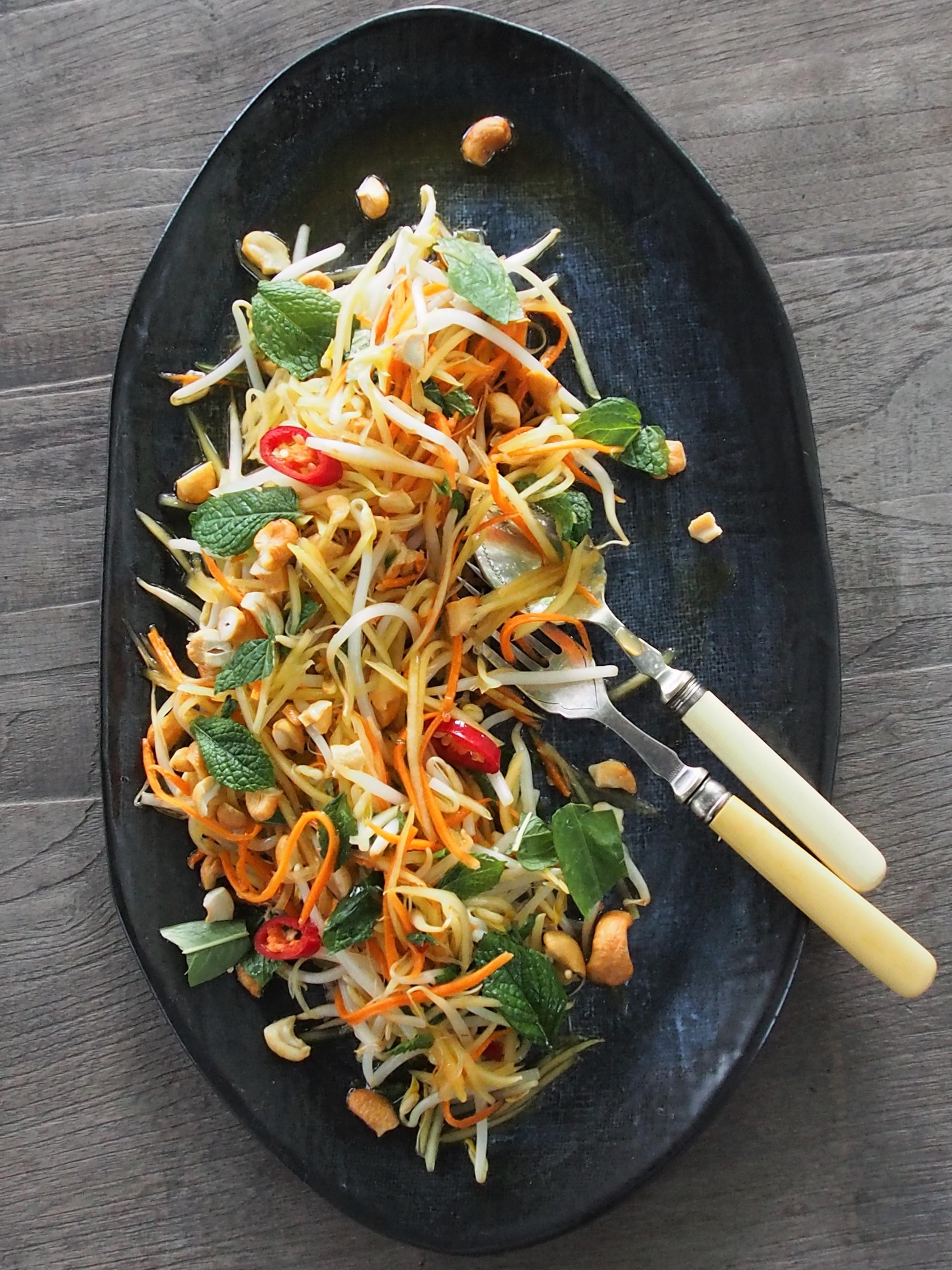 Green Papaya Salad | Healthy Home Cafe